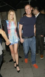 Stephanie Pratt - leaves Aura Mayfair nightclub in London 6/29/13