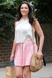 Kelly Brook - on the set of 'Taking Stock' in London 7/3/13