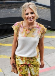 Mollie King - leaves ITV Studios in London 7/3/13