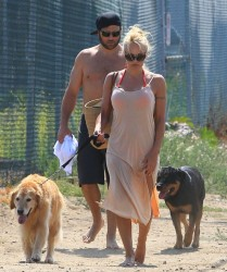 Pamela Anderson - Out in Malibu 7/5/13