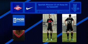 pes 2013 Spartak Moscow 13-14 Away kit by hassan97 download