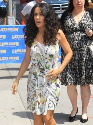 Salma Hayek - at the Late Show with David Letterman in NYC 7/10/13