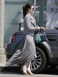 Michelle Trachtenberg - Visiting a nail salon in Beverly Hills 7/15/13