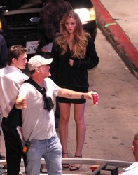 Brooklyn Decker - on the set of 'Stretch' in LA 7/16/13