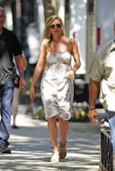 Jennifer Aniston - on the set of 'Squirrels to the Nuts' in NYC 7/18/13