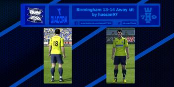 pes 2013 Birmingham 13-14 Away kit by hassan97 download