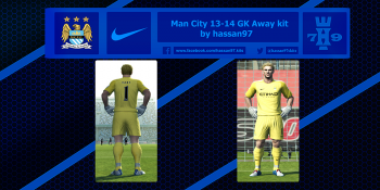 pes 2013 Man City 13-14 GK Away kit by hassan97 download