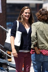 Jennifer Garner - on the set of 'Imagine' in LA 7/31/13