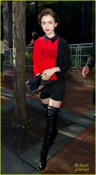Lily Collins - Out in Philadelphia 8/2/13