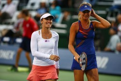Daniela Hantuchova & Martina Hingis - Southern California Open Day 3 in Carlsbad 7/31/13