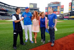 Poppy Montgomery - at Royals vs Mets game in NYC 8/3/13