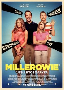 Przód ulotki filmu 'Millerowie'
