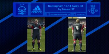 pes 2013 Nottingham 13-14 Away kit by hassan97