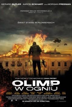 Polski plakat filmu 'Olimp W Ogniu'