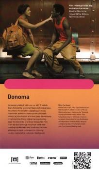 Tył ulotki filmu 'Donoma'