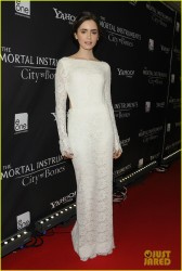 Lily Collins - At The Mortal Instruments: City of Bones Premiere in Toronto 8/15/13