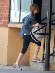 Isla Fisher - at the gym in Studio City 8/23/13