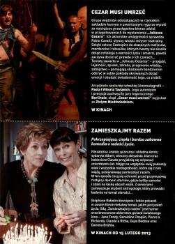 Tył ulotki filmu 'Cezar Musi Umrzeć'
