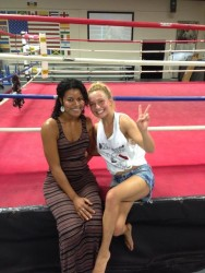 Hayden Panettiere Looking Hot at a Boxing Ring