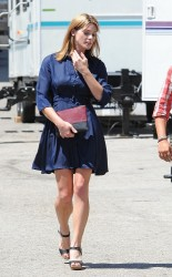 Ashley Greene & Kate Hudson - On set of 'Wish I Was Here' in LA 8/28/13
