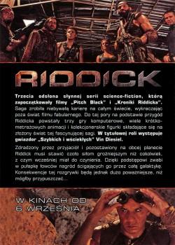 Tył ulotki filmu 'Riddick'