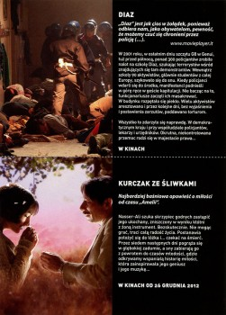 Tył ulotki filmu 'Diaz'