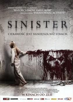 Przód ulotki filmu 'Sinister'