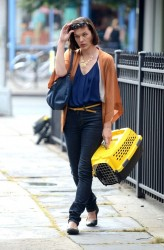Milla Jovovich - on the set of 'Cymbeline' in NYC 8/28/13