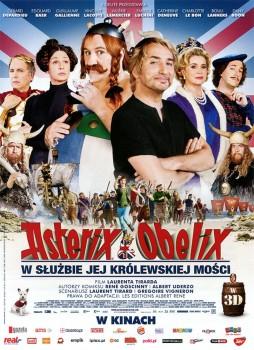 Przód ulotki filmu 'Asterix i Obelix: W Służbie Jej Królewskiej Mości'