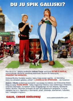 Tył ulotki filmu 'Asterix i Obelix: W Służbie Jej Królewskiej Mości'