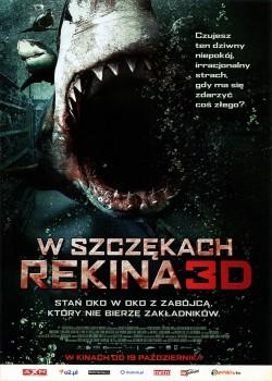 Przód ulotki filmu 'W Szczękach Rekina'