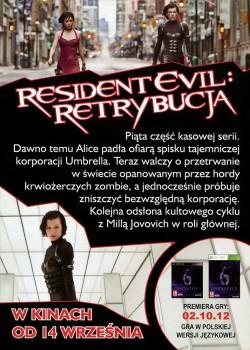 Tył ulotki filmu 'Resident Evil: Retrybucja'