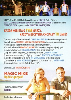 Tył ulotki filmu 'Magic Mike'