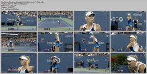 Caroline Wozniacki | US Open Aug 31, 2013 | Video 720p + caps + GIFs