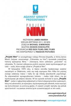 Tył ulotki filmu 'Projekt Nim'