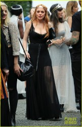 Lindsay Lohan - Arriving to the 'Saints of the Zodiac' Fashion Show in NYC 9/4/13