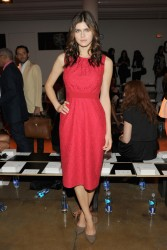 Alexandra Daddario - Peter Som Spring 2014 fashion show in NYC 9/6/13