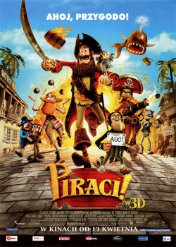 Przód ulotki filmu 'Piraci!'