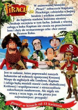 Tył ulotki filmu 'Piraci!'