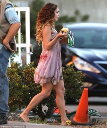 Vanessa Hudgens - on the set of 'Kitchen Sink' in Hollywood 9/6/13