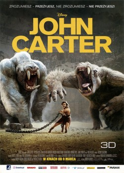 Przód ulotki filmu 'John Carter'