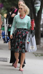 AnnaSophia Robb - on the set of 'The Carrie Diaries' in NYC 9/10/13