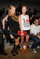Paris & Nicky Hilton- Jeremy Scott fashion show in NYC 9/11/13