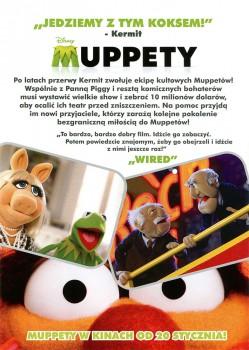 Tył ulotki filmu 'Muppety'