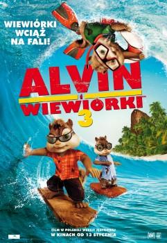 Polski plakat filmu 'Alvin i Wiewiórki 3'
