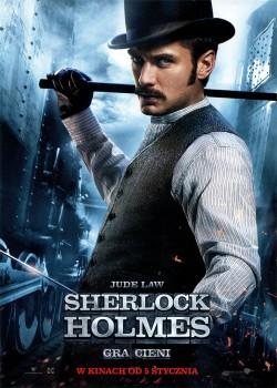 Przód ulotki filmu 'Sherlock Holmes: Gra Cieni'