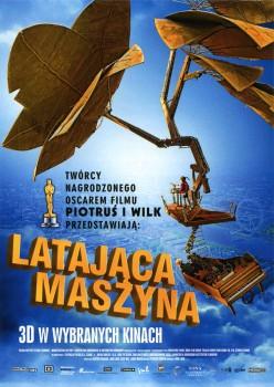 Przód ulotki filmu 'Latająca Maszyna'