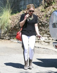 Hilary Duff - Going to a friends house in West Hollywood 9/23/13