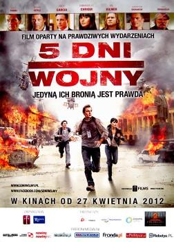 Przód ulotki filmu '5 Dni Wojny'