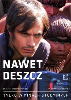 Przód ulotki filmu 'Nawet Deszcz'